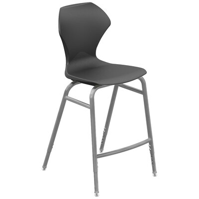 Apex Series Barstool Color: Black, Frame Finish: Gray Powdercoat