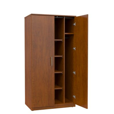 Mobile CaseGoods Armoire Frame Color: Solar Oak, Trim Color: Solar Oak