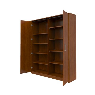 Mobile CaseGoods 2 Door Storage Cabinet Trim Color: Black, Frame Color: Wild Apple Product Image 2908