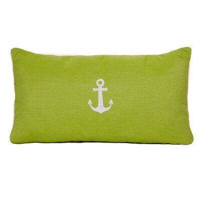 Morado Anchor Beach Outdoor Sunbrella Lumbar Pillow Color: Parrot Green