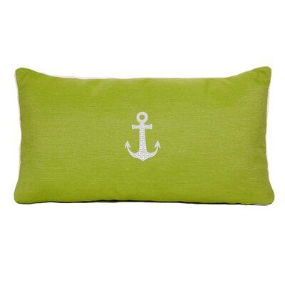 Anchor Beach Outdoor Sunbrella Lumbar Pillow Color: Parrot Green