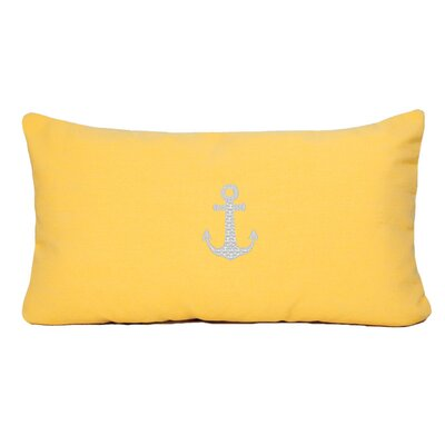 Anchor Beach Outdoor Sunbrella Lumbar Pillow Color: Yellow