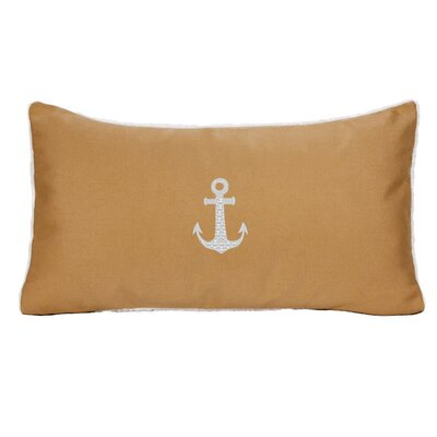 Morado Anchor Beach Outdoor Sunbrella Lumbar Pillow Color: Wet Sand