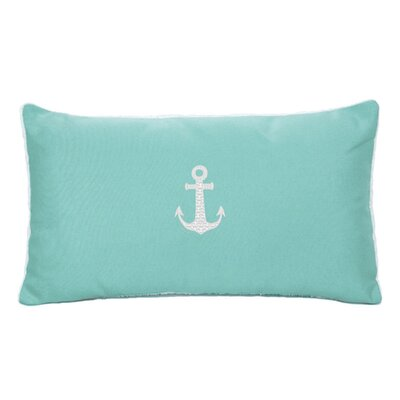 Morado Anchor Beach Outdoor Sunbrella Lumbar Pillow Color: Glacier Blue