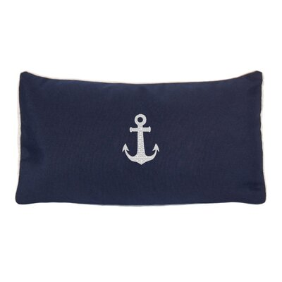 Morado Anchor Beach Outdoor Sunbrella Lumbar Pillow Color: Navy