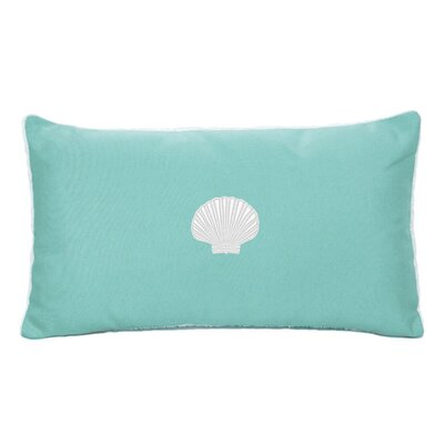 Scallop Beach Outdoor Sunbrella  Lumbar Pillow Color: Glacier Blue