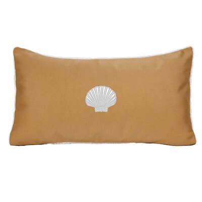 Mirabal Scallop Beach Outdoor Sunbrella Lumbar Pillow Color: Wet Sand