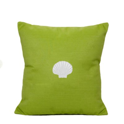 Scallop Indoor/Outdoor Sunbrella Throw Pillow Size: 14 H x 14 W, Color: Parrot Green
