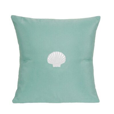 Scallop Indoor/Outdoor Sunbrella Throw Pillow Color: Glacier Blue, Size: 18 H x 18 W
