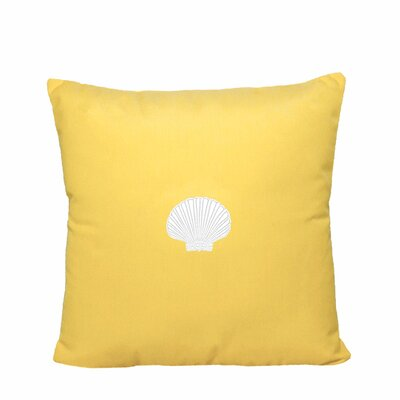 Scallop Indoor/Outdoor Sunbrella Throw Pillow Size: 14 H x 14 W, Color: Yellow