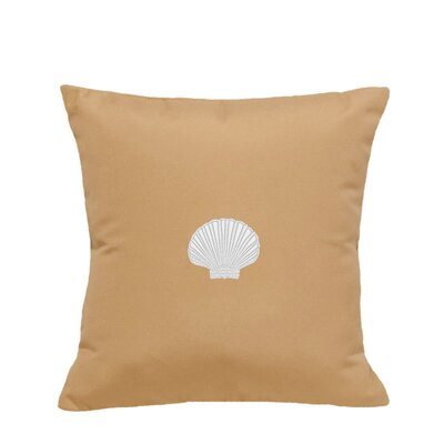 Mirabal Scallop Indoor/Outdoor Sunbrella Throw Pillow Size: 14 H x 14 W, Color: Wet Sand