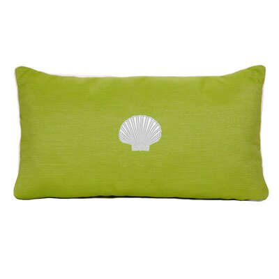 Scallop Beach Outdoor Sunbrella  Lumbar Pillow Color: Parrot Green