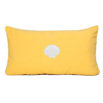 Mirabal Scallop Beach Outdoor Sunbrella Lumbar Pillow Color: Yellow