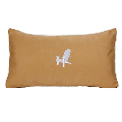 Adirondack Beach Outdoor Sunbrella Lumbar Pillow Color: Wet Sand