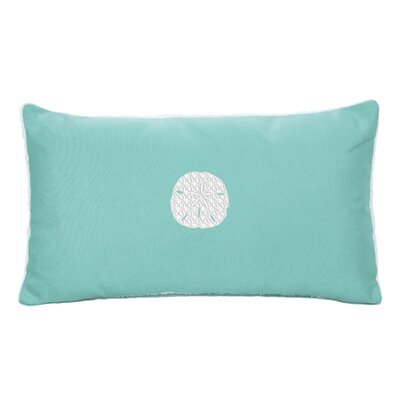 Eastford Beach Sunbrella Outdoor Lumbar Pillow Color: Glacier Blue