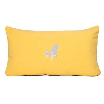 Adirondack Beach Outdoor Sunbrella Lumbar Pillow Color: Yellow