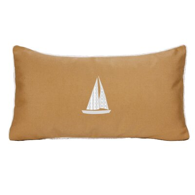Hampden Sailboat Indoor/Outdoor Sunbrella Throw Pillow Size: 18 H x 18 W, Color: Wet Sand