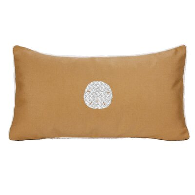 Sand Dollar Beach Sunbrella Outdoor Lumbar Pillow Color: Wet Sand