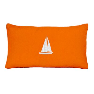 Hampden Sailboat Indoor/Outdoor Sunbrella Throw Pillow Size: 14 H x 14 W, Color: Melon
