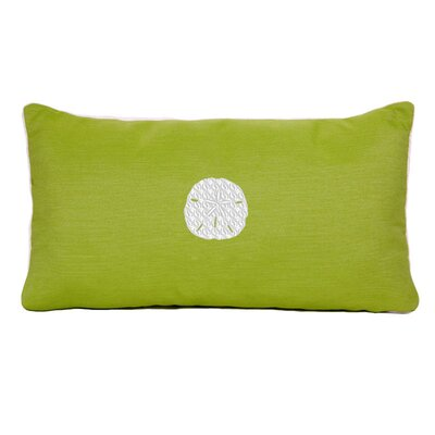Sand Dollar Beach Sunbrella Outdoor Lumbar Pillow Color: Parrot Green