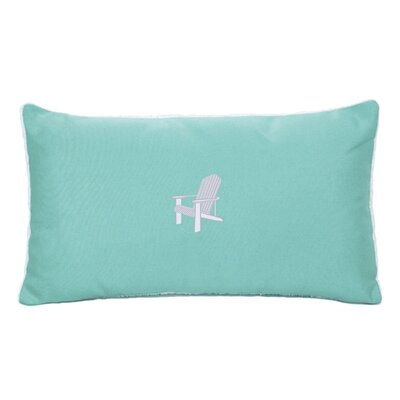 Adirondack Beach Outdoor Sunbrella Lumbar Pillow Color: Glacier Blue