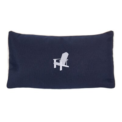Adirondack Beach Outdoor Sunbrella Lumbar Pillow Color: Navy