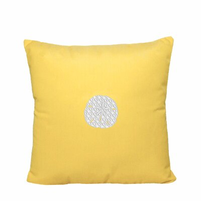 Sand Dollar Indoor/Outdoor Sunbrella Throw Pillow Size: 14 H x 14 W, Color: Yellow