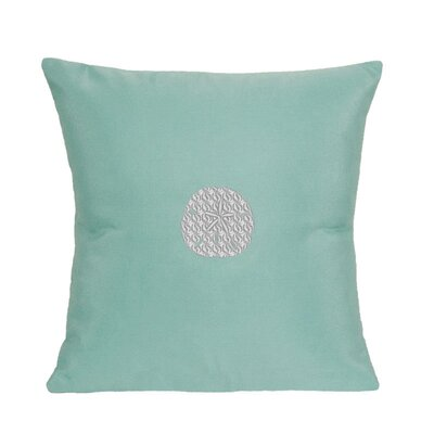 Sand Dollar Indoor/Outdoor Sunbrella Throw Pillow Size: 14 H x 14 W, Color: Glacier Blue