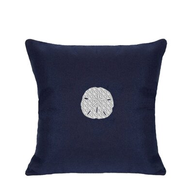 Sand Dollar Indoor/Outdoor Sunbrella Throw Pillow Size: 18 H x 18 W, Color: Navy