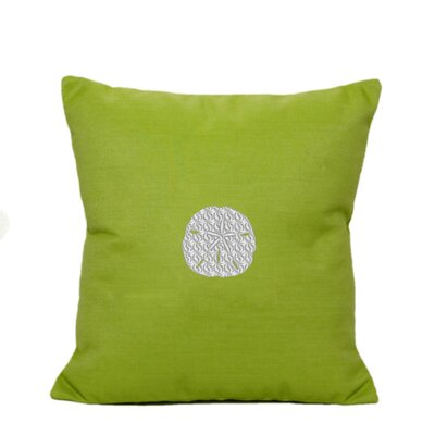 Sand Dollar Indoor/Outdoor Sunbrella Throw Pillow Size: 18 H x 18 W, Color: Parrot Green