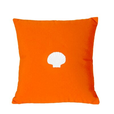 Scallop Indoor/Outdoor Sunbrella Throw Pillow Size: 18 H x 18 W, Color: Melon