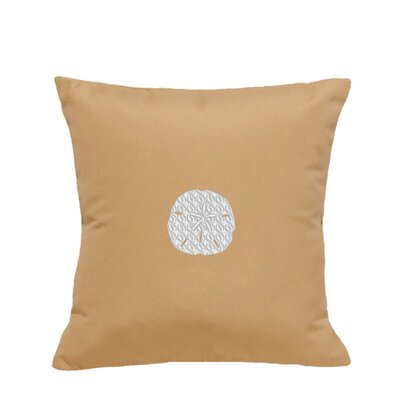 Sand Dollar Indoor/Outdoor Sunbrella Throw Pillow Color: Wet Sand, Size: 12 H x 20 W