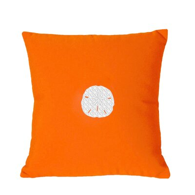Sand Dollar Indoor/Outdoor Sunbrella Throw Pillow Size: 18 H x 18 W, Color: Melon