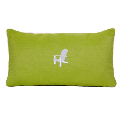 Adirondack Beach Outdoor Sunbrella Lumbar Pillow Color: Parrot Green