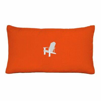 Adirondack Beach Outdoor Sunbrella Lumbar Pillow Color: Melon