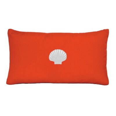 Scallop Beach Outdoor Sunbrella  Lumbar Pillow Color: Melon