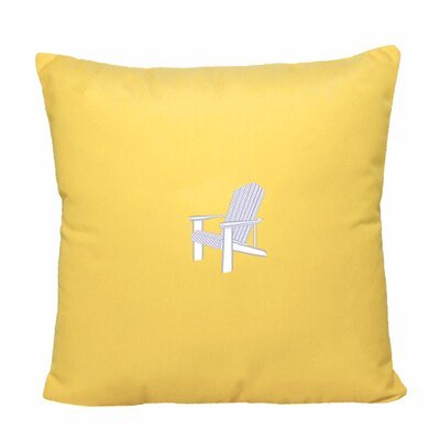 Adirondack Indoor/Outdoor Sunbrella Throw Pillow Size: 14 H x 14 W, Color: Yellow