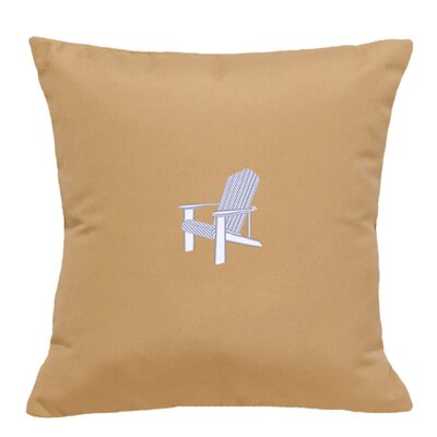 Adirondack Indoor/Outdoor Sunbrella Throw Pillow Size: 14 H x 14 W, Color: Wet Sand