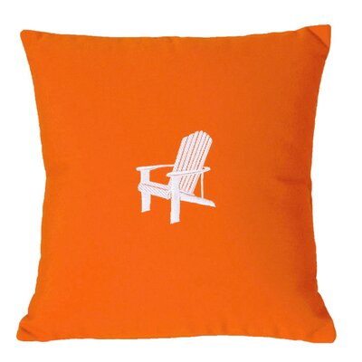 Adirondack Indoor/Outdoor Sunbrella Throw Pillow Size: 18 H x 18 W, Color: Melon