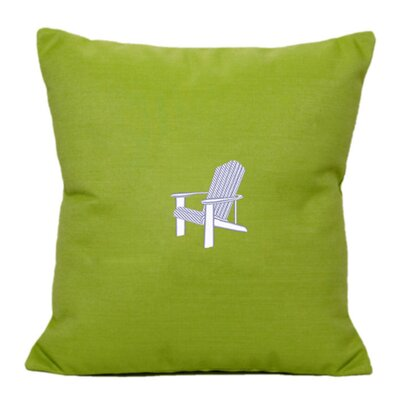 Adirondack Indoor/Outdoor Sunbrella Throw Pillow Size: 14 H x 14 W, Color: Parrot Green