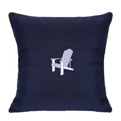 Adirondack Indoor/Outdoor Sunbrella Throw Pillow Size: 14 H x 14 W, Color: Navy
