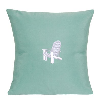 Adirondack Indoor/Outdoor Sunbrella Throw Pillow Size: 14 H x 14 W, Color: Glacier Blue