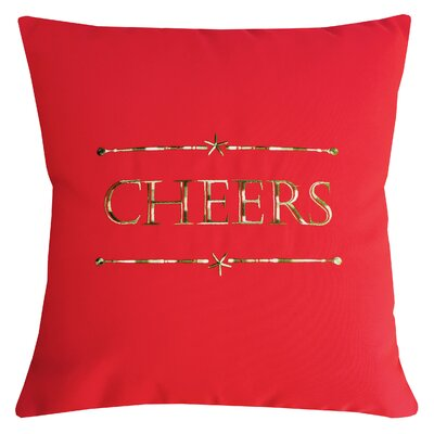 Holiday Cheers Indoor/Outdoor Sunbrella Throw Pillow Size: 14 X 14