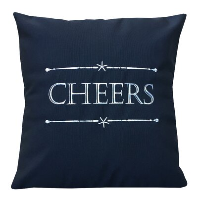 Holiday Cheers Indoor/Outdoor Sunbrella Throw Pillow Size: 14 X 14