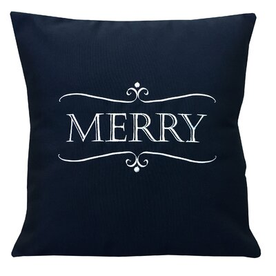 Holiday Merry Indoor/Outdoor Sunbrella Throw Pillow Size: 18 X 18