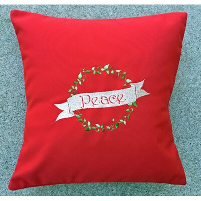 Nantucket Bound Holiday Peace Indoor/Outdoor Sunbrella Throw Pillow Size: 14 H x 14 W x 1.75 D