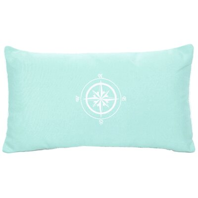 Compass Rose Indoor/Outdoor Sunbrella Lumbar Pillow Color: Glacier Blue