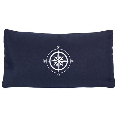 Compass Rose Indoor/Outdoor Sunbrella Lumbar Pillow Color: Navy