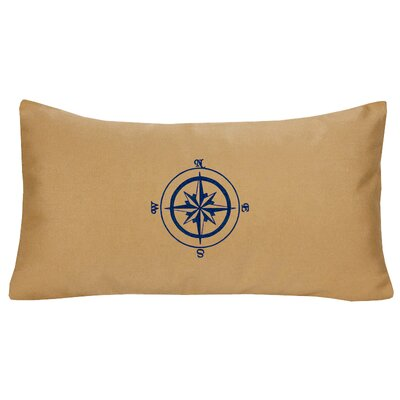 Compass Rose Indoor/Outdoor Sunbrella Lumbar Pillow Color: Wet Sand