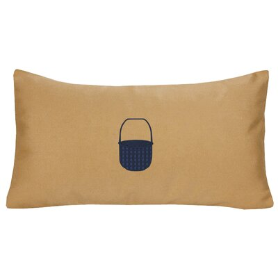 Embroidered Basket Indoor/Outdoor Sunbrella Lumbar Pillow Color: Wet Sand